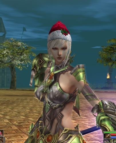 DemonSpear with Christmas Hat