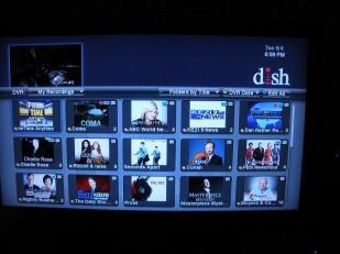 DVR shows recorded programs