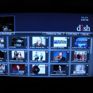 DVR shows recorded programs