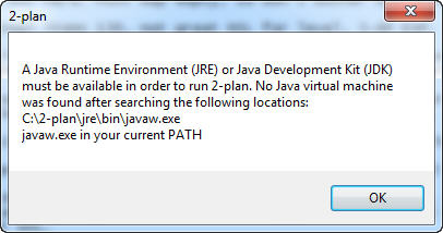 Java cannot be found in the Path.