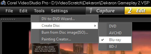 Create Disk Menu