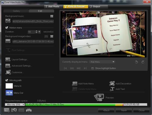 Edit Disk Menus