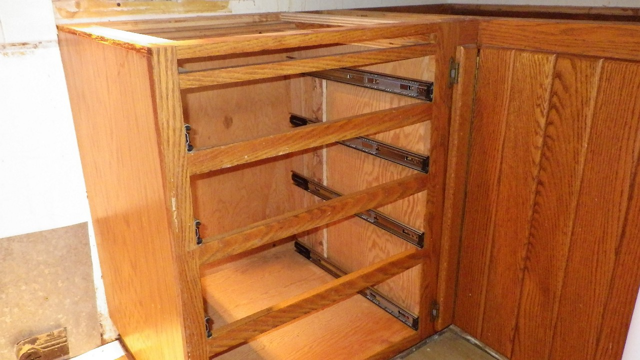 new drawer slides in cabinet - Kitchen Drawer Slides