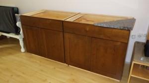 Cabinets in Rustic Alder
