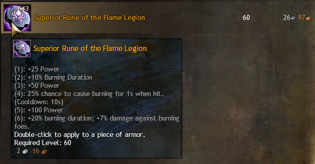 Sup Rune of Flame Legion
