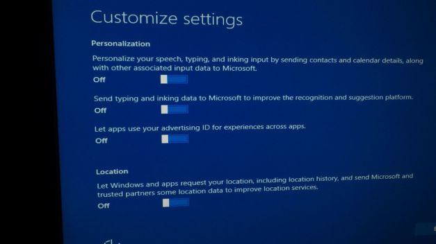 Customize your settings for privacy