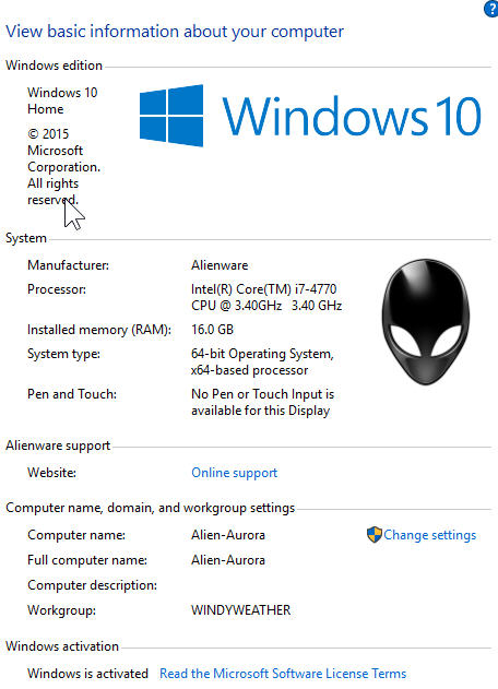 Windows 10 – Upgrading another system