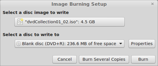 Burn an ISO to Media