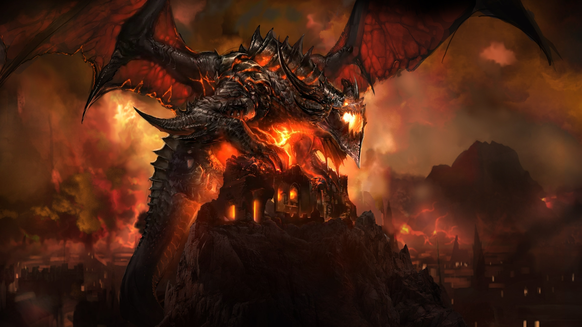 Cataclysm Deathwing World Of Warcraft Jpg The Weakened And Bloodied Red Oracle Dragon