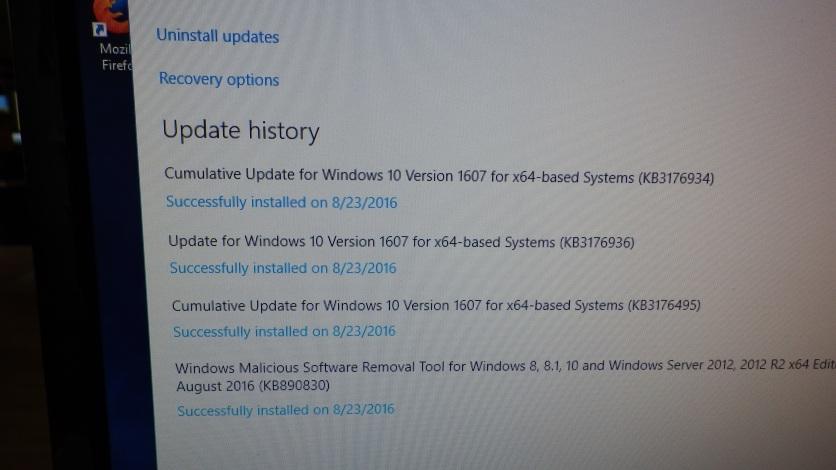Anniversary Update Installed