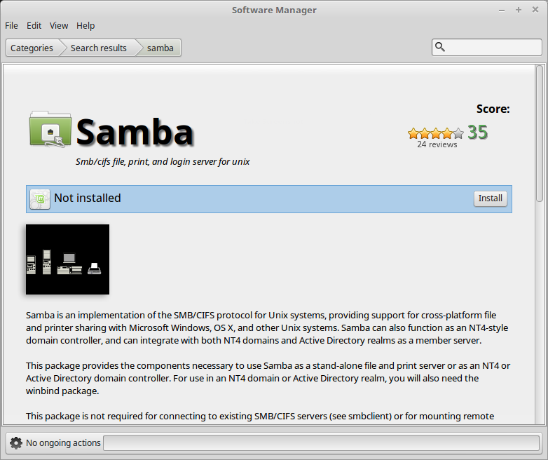 Samba from Software Manager from 2017-10-06 09-26-51.png
