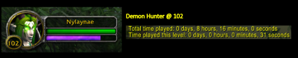 Demon Hunter that only leveled