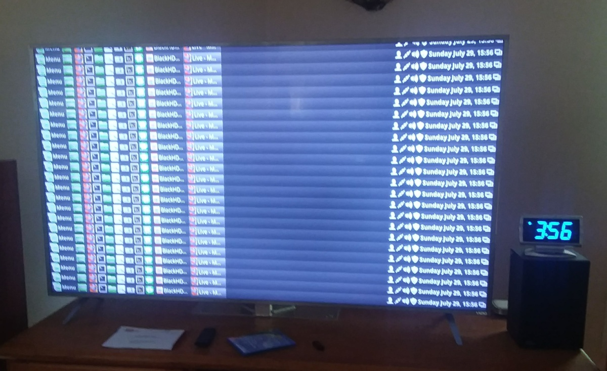 Vizio P65 TV Glitches
