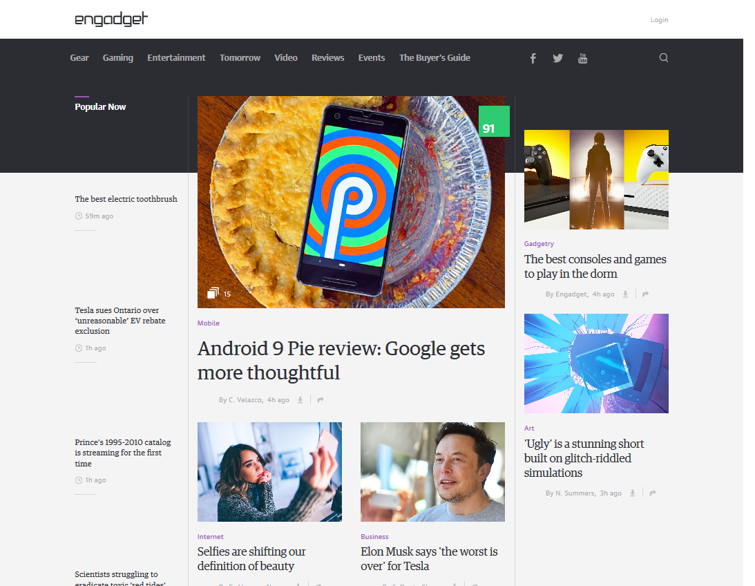 Engadget – Advertising to the Max