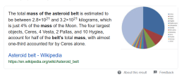 Mass of the Asteroid Belt