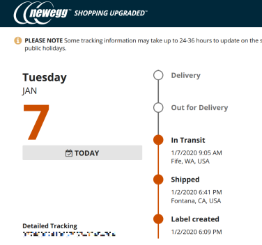 SSD Tracking Newegg