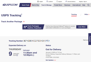 SSD USPS Tracking® Results Jan 9