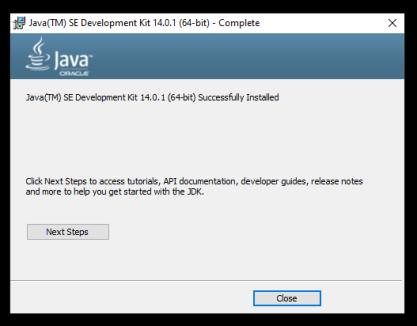 Java_JDK14_Install_Success