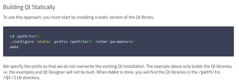 Qt for Linux X11 BuildQtStatic.png