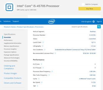 Intel® Core™ i5-4570S