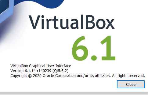 Virtual Box Bug Report